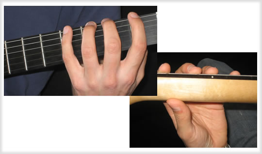 Greifhand Haltung Gitarre