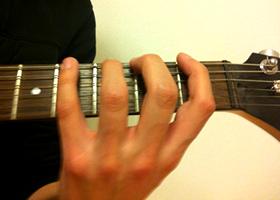 Fingerhaltung Greifhand Gitarre