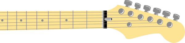 Griffbrett der Gitarre